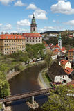 Cesky Krumlov in the Czech ,old town. Royalty Free Stock Photo