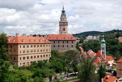 Cesky Krumlov, Czech Rep: View of Castle Stock Photo