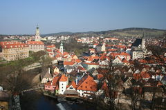 Cesky Krumlov, Czech Republic. The world heritage town of Cesky Krumlov Royalty Free Stock Images