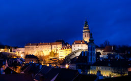 Cesky Krumlov, Czech Republic. Cesky Krumlov night view, Czech Republic Stock Photography