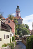 CESKY KRUMLOV, CZECH REPUBLIC AUGUST 21, 2012:Narrow Canal Stock Photos