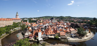 CESKY KRUMLOV, Czech Republic, The Castle and City Royalty Free Stock Images