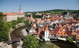CESKY KRUMLOV, CZECH REPUBLIC, The Castle and city Stock Image