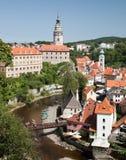 CESKY KRUMLOV, Czech Republic, The Castle and City Royalty Free Stock Image