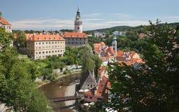 CESKY KRUMLOV, CZECH REPUBLIC, The Castle Tower Stock Image