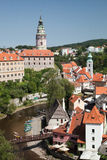 CESKY KRUMLOV, CZECH REPUBLIC, The Castle Tower Stock Images