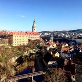 Cesky Krumlov in Czech Republic stock image