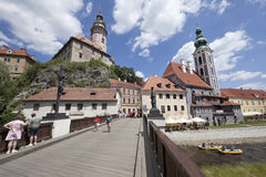 CESKY KRUMLOV, CZECH REPUBLIC-JULY 27 Royalty Free Stock Photos