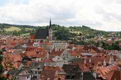 Cesky Krumlov. Czech republic - panoramic view of the city Royalty Free Stock Photography