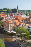 CESKY KRUMLOV, CZECH REPUBLIC, The St. Vit Church Stock Images