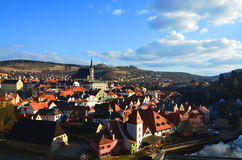 Cesky Krumlov. Czech Republic view from castle Royalty Free Stock Image