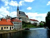 Cesky Krumlov, Czekia. Historic church in Cesky Krumlov Royalty Free Stock Photography