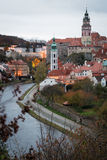 Cesky Krumlov at dusk, Czech Republic Royalty Free Stock Image