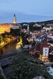 Cesky Krumlov at dusk, South Bohemia, Czech Republic Stock Photo