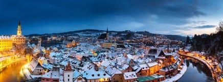 Cesky Krumlov, inverno Imagens de Stock Royalty Free