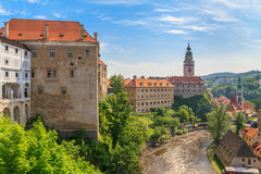 Cesky Krumlov / Krumau castle and tower, UNESCO World Heritage S Royalty Free Stock Photo