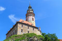 Cesky Krumlov / Krumau castle and tower, UNESCO World Heritage S Royalty Free Stock Photos