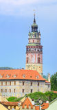 Cesky Krumlov / Krumau, View on Castle Tower, UNESCO World Herit Stock Image