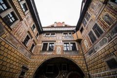 Cesky Krumlov - like a point of turistic destination Stock Photos
