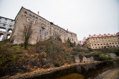 Cesky Krumlov - like a point of turistic destination Royalty Free Stock Photo