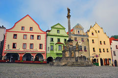 Cesky Krumlov: the main square Stock Images