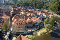 Cesky Krumlov old town Royalty Free Stock Photo