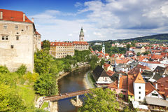 Cesky Krumlov - old town in Czech Republic Royalty Free Stock Photos