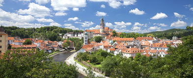 Cesky Krumlov Panorama Royalty Free Stock Photo