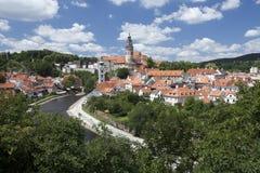 Cesky Krumlov panorama Stock Images