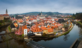 Cesky Krumlov panorama wide Royalty Free Stock Image