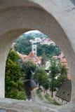 CESKY KRUMLOV, RÉPUBLIQUE DE BOHEMIA/CZECH - 17 SEPTEMBRE : État Cas image libre de droits