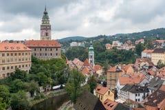CESKY KRUMLOV, RÉPUBLIQUE DE BOHEMIA/CZECH - 17 SEPTEMBRE : État Cas image stock
