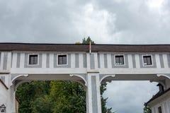 CESKY KRUMLOV, RÉPUBLIQUE DE BOHEMIA/CZECH - 17 SEPTEMBRE : État Cas photographie stock