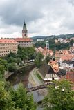CESKY KRUMLOV, RÉPUBLIQUE DE BOHEMIA/CZECH - 17 SEPTEMBRE : État Cas images libres de droits
