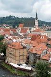 CESKY KRUMLOV, RÉPUBLIQUE DE BOHEMIA/CZECH - 17 SEPTEMBRE : Vue de K image libre de droits