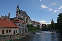 Cesky Krumlov, república checa Foto de Stock Royalty Free