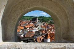 Cesky Krumlov, República Checa Fotos de archivo