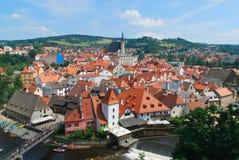 Cesky Krumlov, República Checa Fotos de archivo libres de regalías