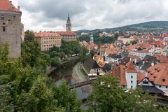 CESKY KRUMLOV, REPUBBLICA DI BOHEMIA/CZECH - 17 SETTEMBRE: Stato Cas fotografia stock