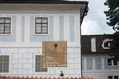 CESKY KRUMLOV, REPUBBLICA DI BOHEMIA/CZECH - 17 SETTEMBRE: Stato Cas fotografie stock libere da diritti