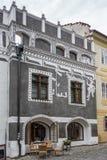 CESKY KRUMLOV, REPUBBLICA DI BOHEMIA/CZECH - 17 SETTEMBRE: Traditiona immagine stock libera da diritti
