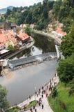 CESKY KRUMLOV, REPUBBLICA DI BOHEMIA/CZECH - 17 SETTEMBRE: Vista di K immagine stock libera da diritti