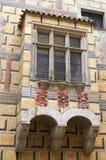 Cesky Krumlov, republika czech - Wrzesień 26, 2014 Balkon kasztel Zdjęcia Stock