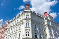 cesky krumlov republiki czech miasta średniowieczny stary widok Karlovy Zmienia fasadę Obraz Stock