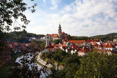 Cesky Krumlov and river Royalty Free Stock Photos