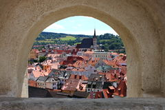 Cesky Krumlov scenic view Royalty Free Stock Images