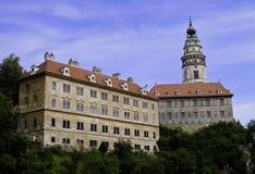 Cesky Krumlov Schloss Lizenzfreie Stockfotos