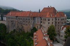 Cesky Krumlov Schloss Stockfotos