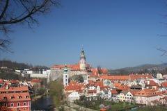 Cesky Krumlov Schloss Lizenzfreies Stockfoto
