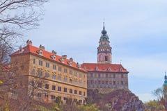 Cesky Krumlov Schloss Lizenzfreie Stockfotografie
